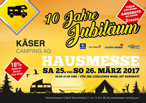 Camping Messe am 25. & 26. März 2017 bei Käser Camping